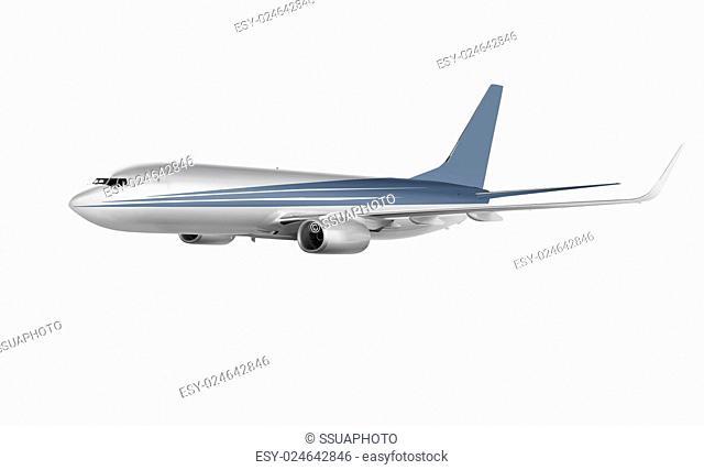 cargo plane isolated on white background