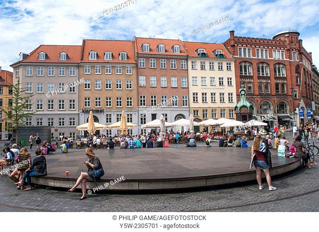 "Kultorvet (literally """"The Coal Market"""") is a public square in the Old Town of Copenhagen,"