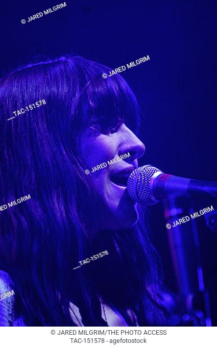 Feist performs at the 2007 KROQ Almost Acoustic Christmas at the Gibson Ampitheatre in Universal City