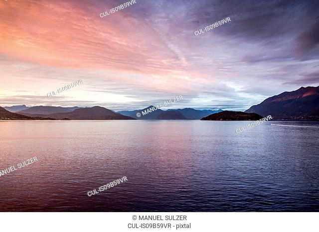 Howe Sound Bay, viewed from ferry, Squamish, British Columbia, Canada