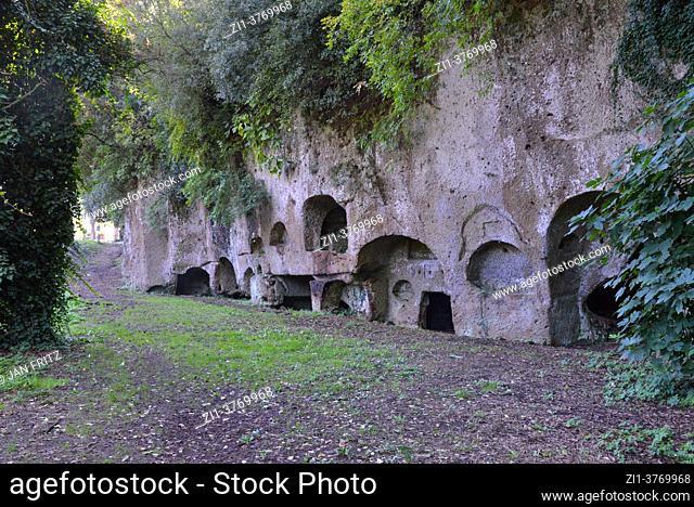 necropolis of Sutri near Viterbo in Toscane, Italy