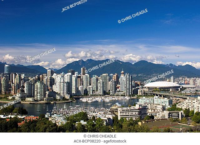 False Creek and Downtown Vancouver, British Columbia, Canada