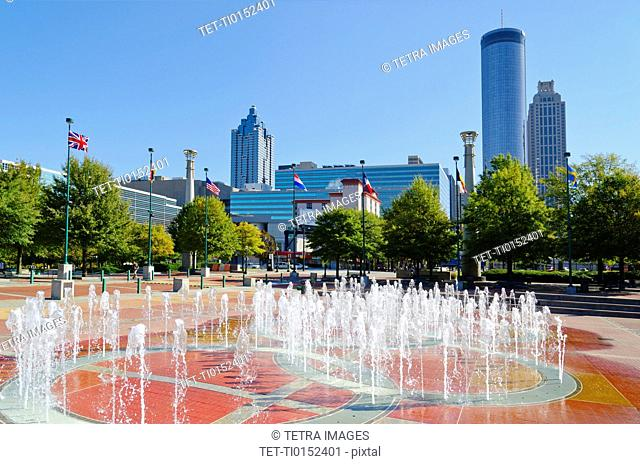 USA, Georgia, Atlanta, View of Cenntinial Park