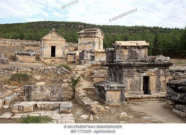 Burying place, Hierapolis, Pamukkale, Denizli, Turkey, Asia