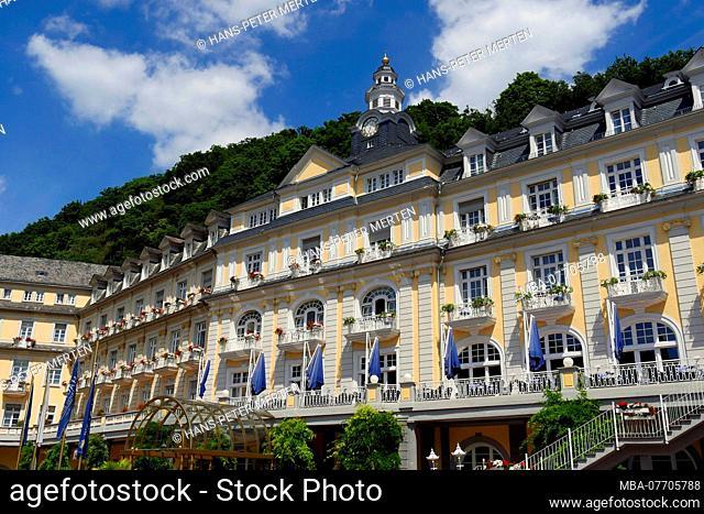 Kurhaus and Häcker's Grand Hotel, Kurhotel, Bad Ems at the Lahn, Lahntal, Rhineland-Palatinate, Germany