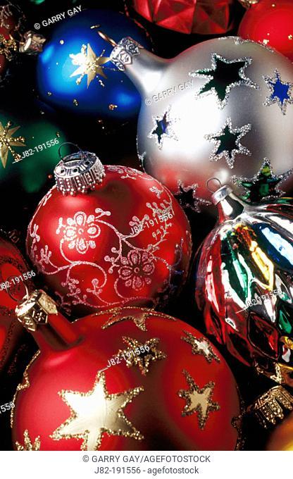 Christmas Ornaments close up