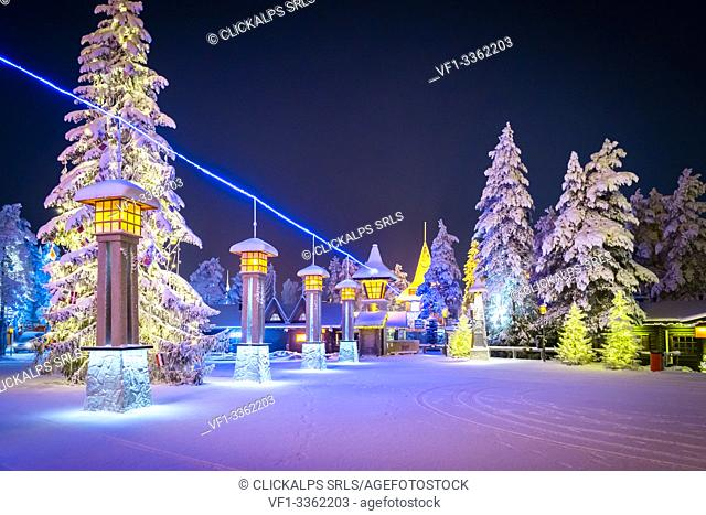 Line of the Arctic Circle Polar, Santa Claus Village, Rovaniemi, Lapland, Finland, Europe
