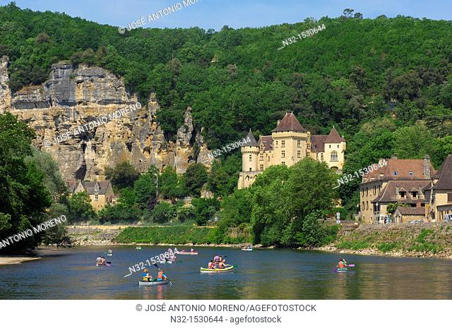 La Roque Gageac, Malartrie Castle, Perigord, River Dordogne, Dordogne River, Dordogne valley, Perigord Noir, Aquitaine, France, Europe