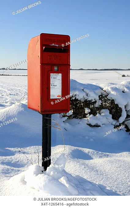 A remote postbox in the snow