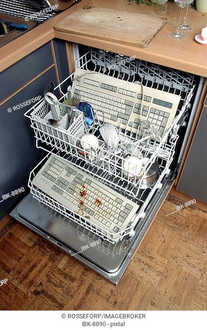 Keyboard dishwasher