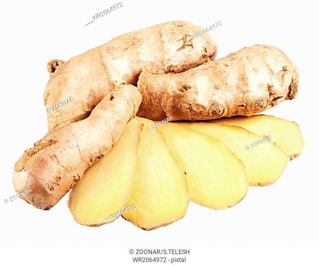 Fresh ginger slices