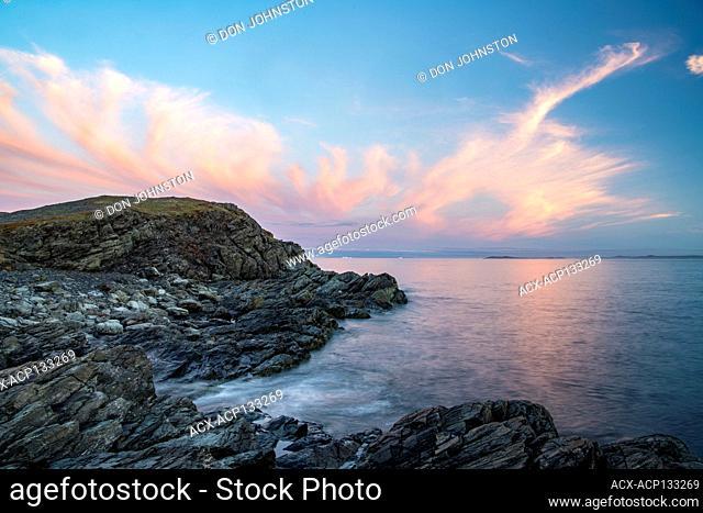 Sunset clouds, Goose Cove, Newfoundland and Labrador NL, Canada