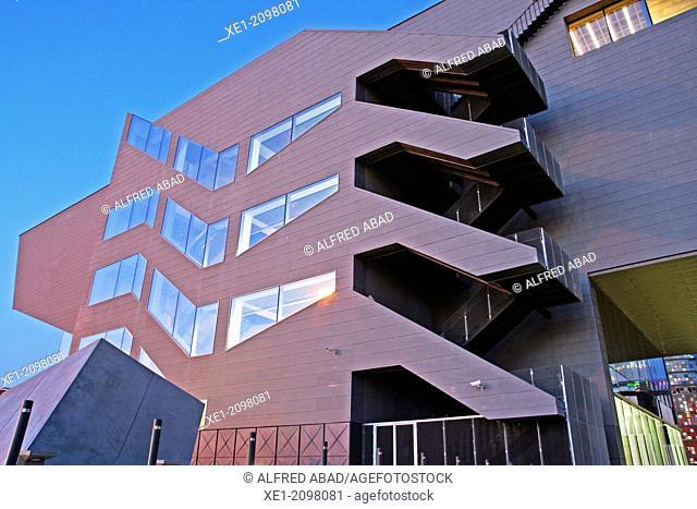DHUB building, Design Museum, 2013, arch. Martorell, Bohigas and Mackay, Barcelona, Catalonia, Spain