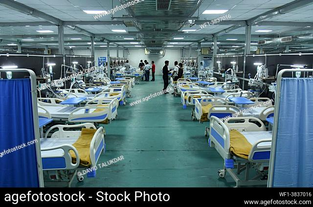Assam Chief Minister Himanta Biswa Sarma (Unseen) inaugurates 300-bedded hospital to treat COVID-19 coronavirus patients at Indira Gandhi Stadium in Guwahati