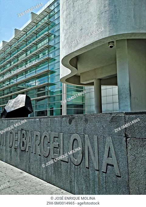 Barcelona Museum of Contemporary ArtMACBA. Barcelona city, Catalonia, Spain