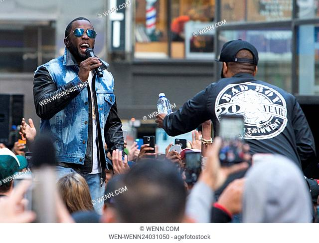Puff Daddy and The Family performs during rehearsal on NBC's Today at Rockefeller Plaza Featuring: Sean Combs, Puff Daddy Where: New York, New York