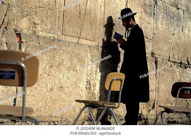 Jerusalem, old city, jew praying at the wailing wall
