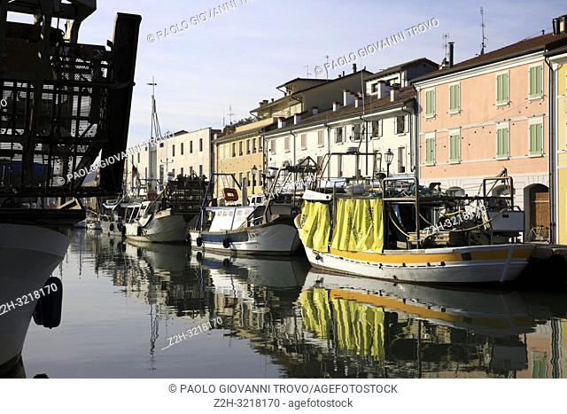 Harbor channel Leonardesque, Cesenatico, Forlì-Cesena, Emilia Romagna, Italy