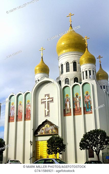 Russian Orthodox Church, Holy Virgin Cathedral, Geary Bouilevard, San Francisco, California, USA
