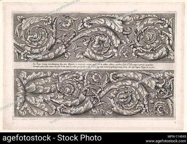 Speculum Romanae Magnificentiae: Della Valle Frieze. Series/Portfolio: Speculum Romanae Magnificentiae; Artist: Anonymous; Publisher: Antonio Lafreri (French