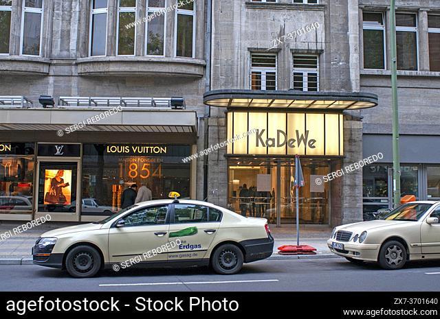 KaDeWe, department store, Wittenbergplatz, west Berlin, Germany. Kaufhaus des Westens, Berlin, Germany