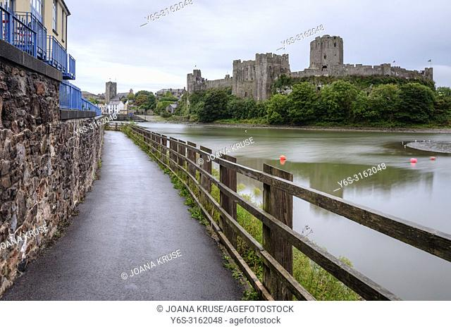 Pembroke Castle, Pembrokeshire, Wales, UK, Europe