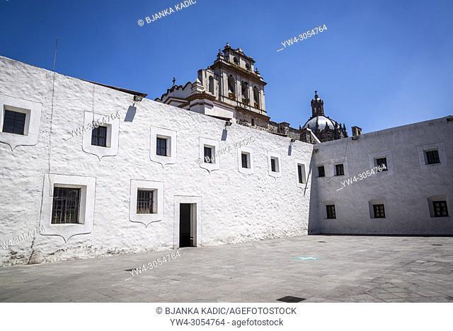 Courtyard, Ex-Convento del Carmen, a former monastery converted to museum, San Ã. ngel, Mexico City, Mexico