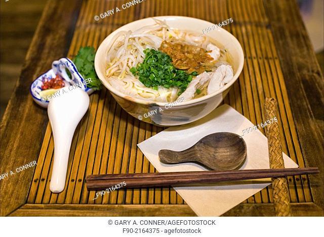 Vietnamese noodles at restaurant in Kamakura, Japan