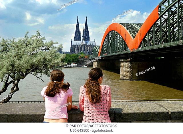 Cologne Cathedral and Hohenzollem Bridge, Germany