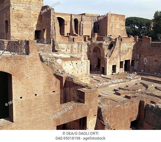 Italy - Latium region - Rome - Palatine Hill. Palace of Domitian, 1st century A.D
