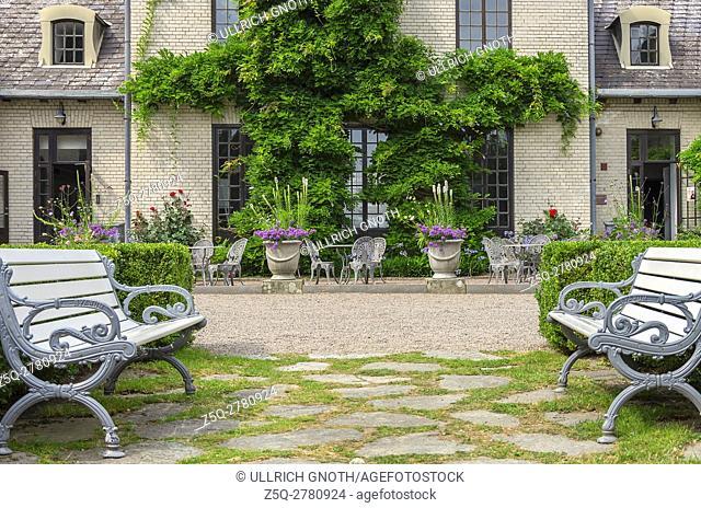Exterior detail of Norrviken Gardens (Norrvikens trädgårdar) in Bastad, Skane County, Sweden