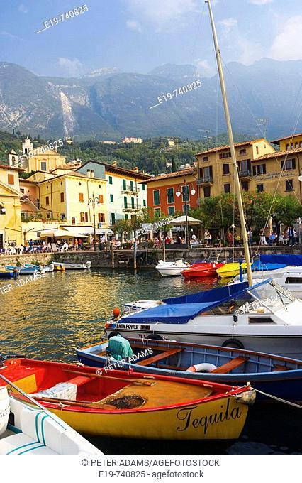 Harbour, Malcesine, Lake Garda, Veneto, Italy
