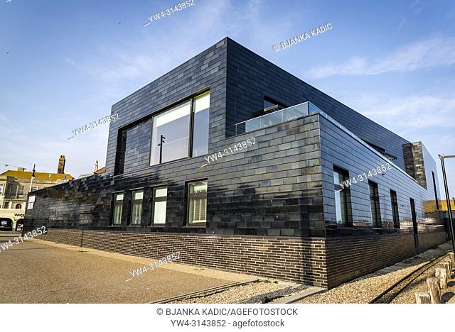 Jerwood Gallery, The Stade area of Hastings Old Town, East Sussex, England, UK