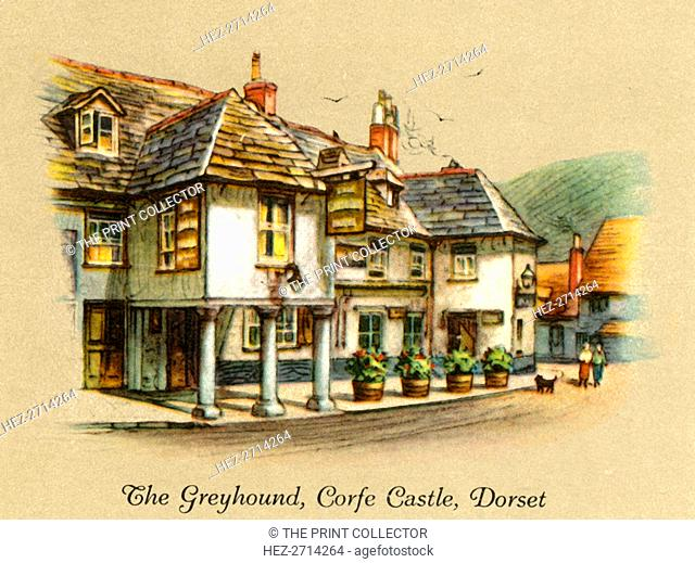 'The Greyhound, Corfe Castle, Dorset', 1936. Creator: Unknown