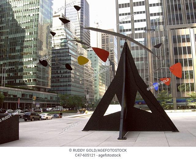 'Ordinary' by Alexander Calder, Seagram Building Plaza, New York City, USA