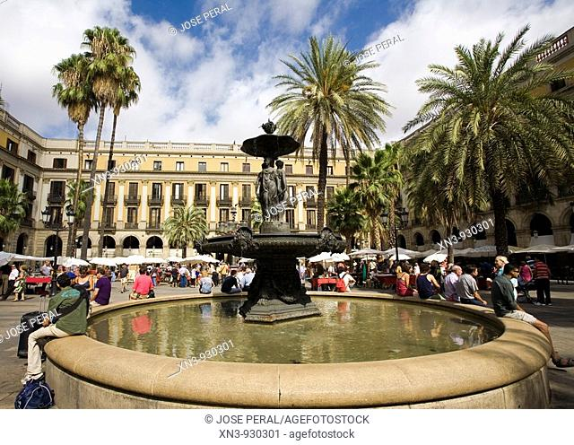 Plaça Reial, Barcelona. Catalonia, Spain