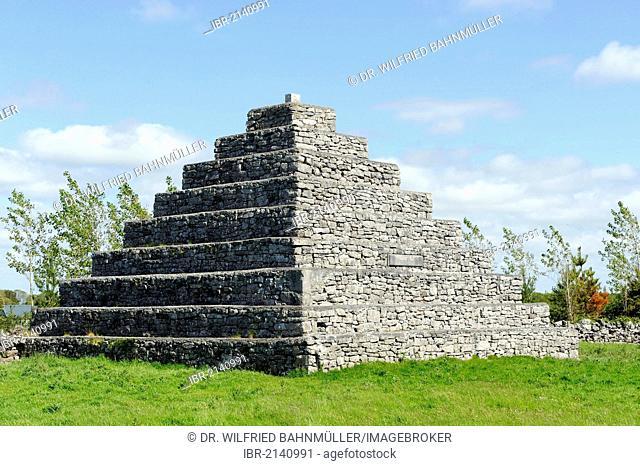 Stone pyramidm mausoleum Neale, County Mayo, Ireland, Europe