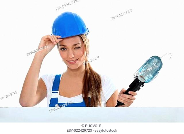 Woman electrician
