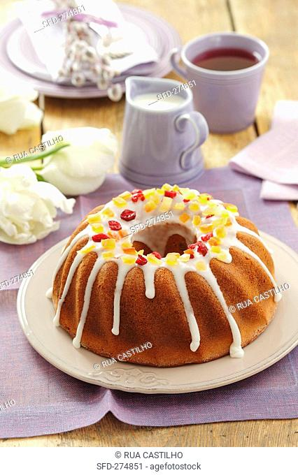 Baba yeasted ring cake for Easter