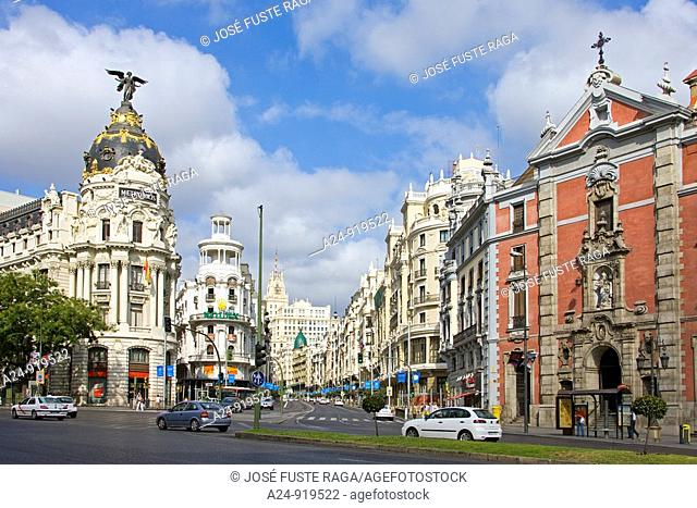 Gran Via avenue, Madrid, Spain