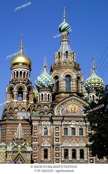 Russia, St  Petersburg, The Church of Our Savior on the Spilled Blood Where Tsar Alexander II was assasinated in 1881
