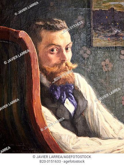 """""""Portrait of the Painter Pere Ysern"""", 1900, Marià Pidelaserra, National Museum of Catalan Art, Museu Nacional d Art de Catalunya, MNAC, Barcelona, Spain"