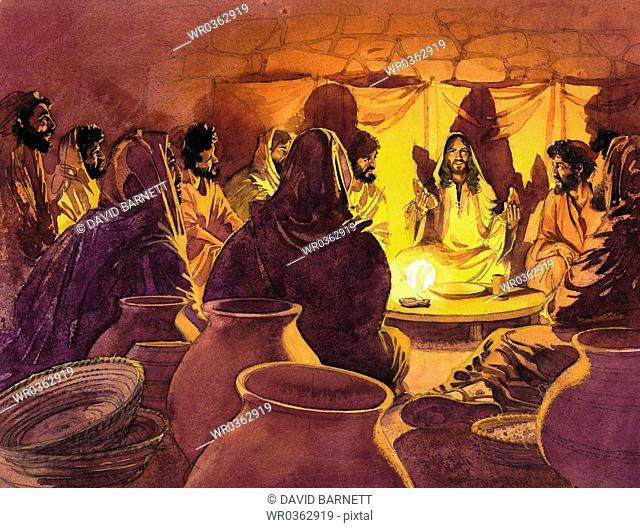 Prophet Teaching Disciples