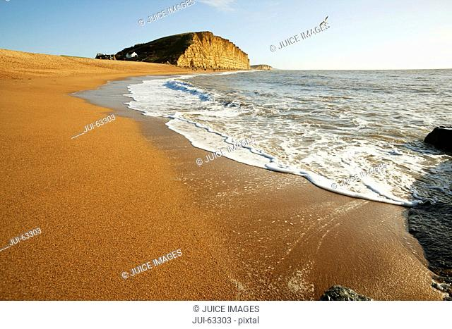Scenic view of beach and waves