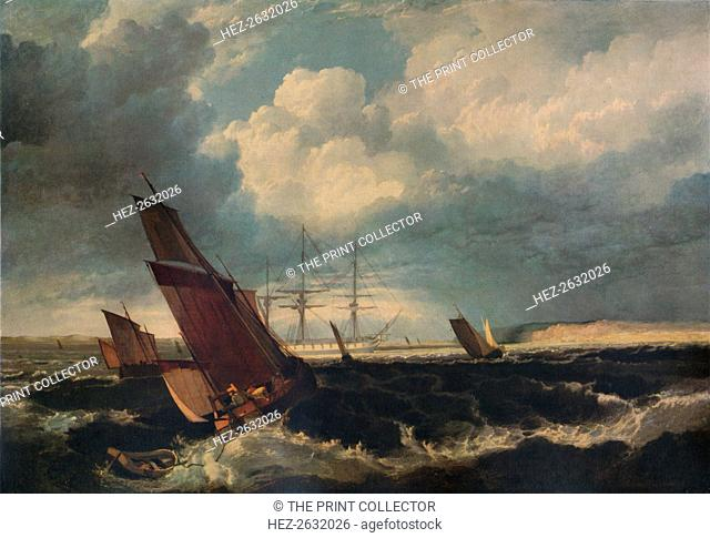 'Guardship off the Nore', c1844. Artist: Clarkson Stanfield