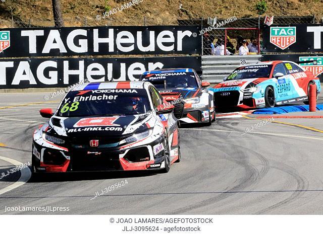 Y. Ehrlacher, Honda Civic Type R TCR #68, WTCR Race of Portugal, Vila Real 23-25 de June 2018