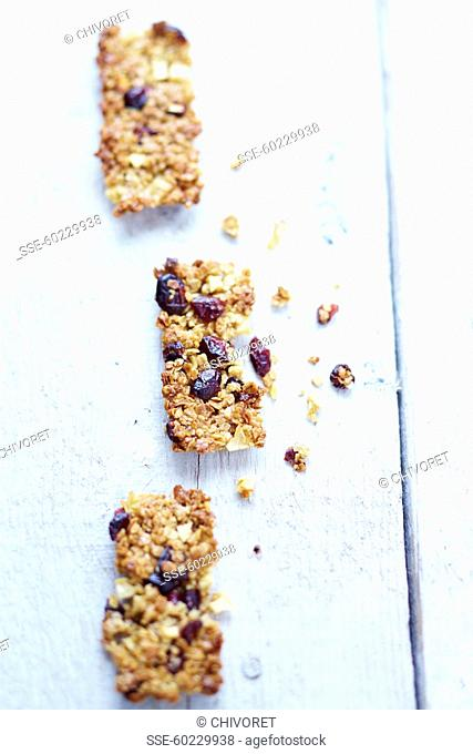 Apple and cranberry Flapjacks