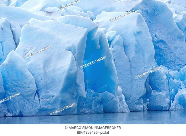 Ice sheet of Grey Glacier at Grey Lake, Torres del Paine National Park, Patagonia, Chile
