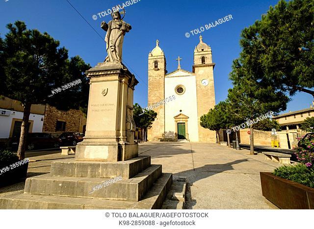 Iglesia parroquial de Sant Cosme y Sant Damià, siglo XIX, Pina, Mallorca, balearic islands, spain, europe