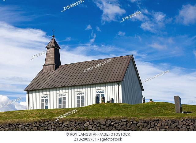 Strandarkirkja church on the southern coast of Iceland